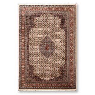 """Hand Knotted Wool Persian Oriental Area RugTraditional Super fine Tabriz Wool Foundation  (6'5""""x9'10"""") - 6'5"""" x 9'10"""""""