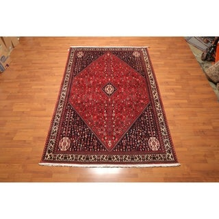 """Pictorial Hand Knotted Wool Persian Oriental Area Rug (6'6""""x10'10"""") - 6'6"""" x 10'10"""""""