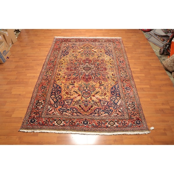 """Serapi Hand Knotted Wool Persian Oriental Area Rug (7'8""""x10'11"""") - 7'8"""" x 10'11"""""""