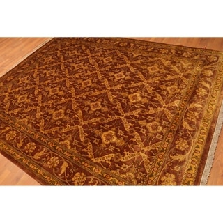 """Hand Knotted Gold Wash 200 KPSI Wool Persian Oriental Area Rug (7'6""""x9'5"""") - 7'6"""" x 9'5"""""""