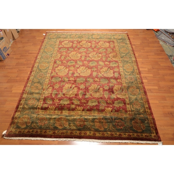 """Hand Knotted Agra Tea Wash Veg Dyes Wool Persian Area Rug (9'x11'8"""") - 9' x 11'8"""""""