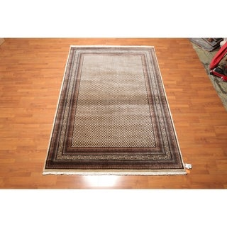 """Hand Knotted 200 KPSI Paisley Wool Persian Oriental Area Rug (6'4""""x9'9"""") - 6'4"""" x 9'9"""""""