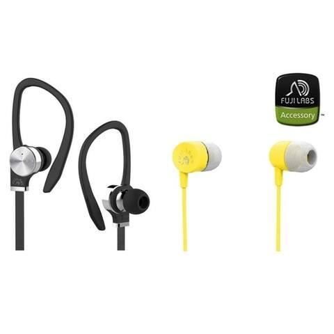Fuji Labs AUFJ-SQNBS306 AUFJ-SQNMS101 Sonique 2-in-1 Headphones Bundle