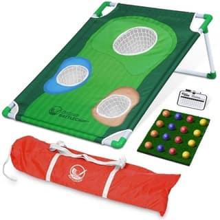 GoSports BattleChip Backyard Golf Cornhole Game Includes Chipping Target, 16 Foam Balls, Hitting Mat and Carrying Case