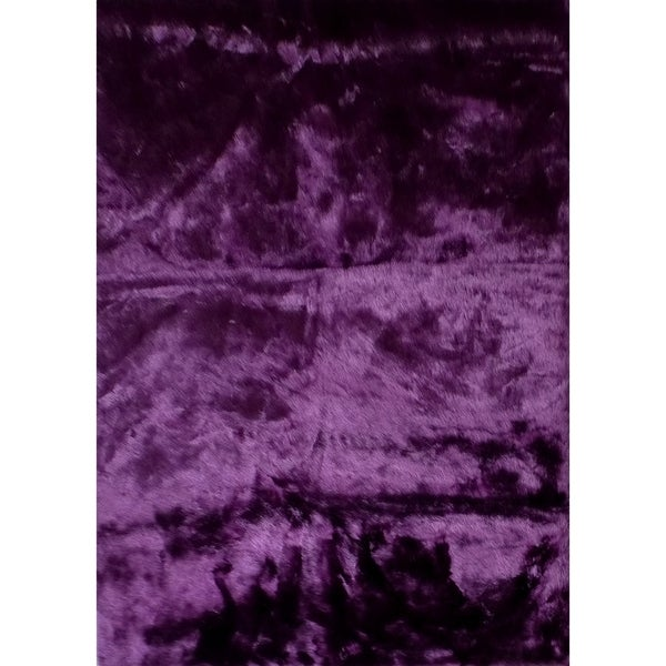 Shop Dark Purple Faux Fur 8x11 Rug