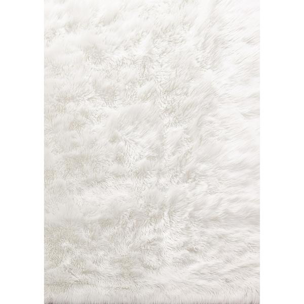 Shop Ivory Faux Fur 8x11 Rug