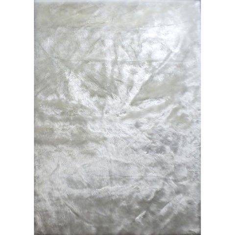 "White Faux Fur 8x11 Rug - 7'6"" x 10'3"""
