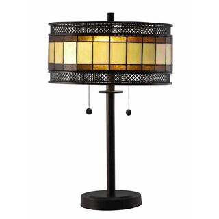 "Springdale 23.25""H Olive Mesh Tiffany Table Lamp"