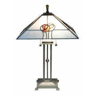 """Springdale 27.5""""H Mack Rose Tiffany Table Lamp"""
