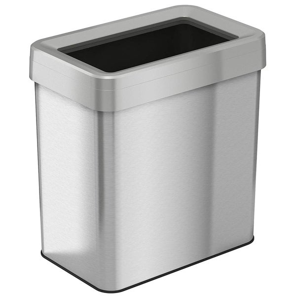 shop itouchless 16 gallon 61 liter rectangular open top trash can free shipping today. Black Bedroom Furniture Sets. Home Design Ideas
