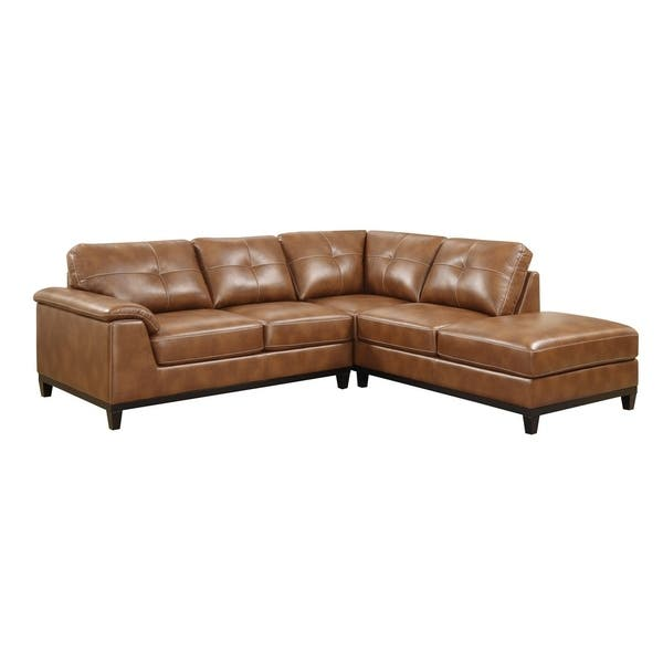 Shop Strick Bolton Ochoco Faux Leather Sectional On Sale