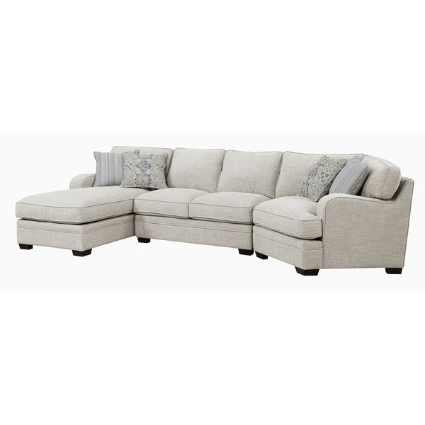 Emerald Home Analiese Ivory Tan Chofa LAF Chaise Sectional