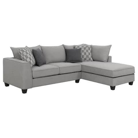 Porch & Den Banton Pewter Grey 2-piece Sectional Set