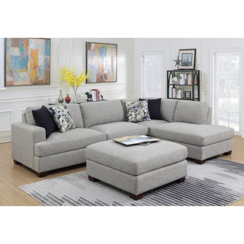 Emerald Home Vernon Country Cloud Grey 2PC Chofa Sectional