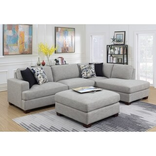 Emerald Home Vernon Country 2PC Chofa Sectional, Cloud Gray