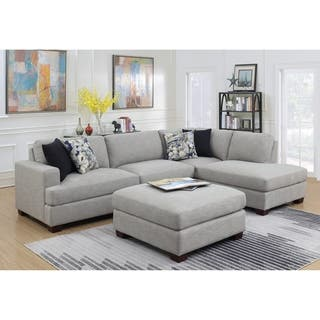 Emerald Home Vernon Country 2pc Chofa Sectional Cloud Gray