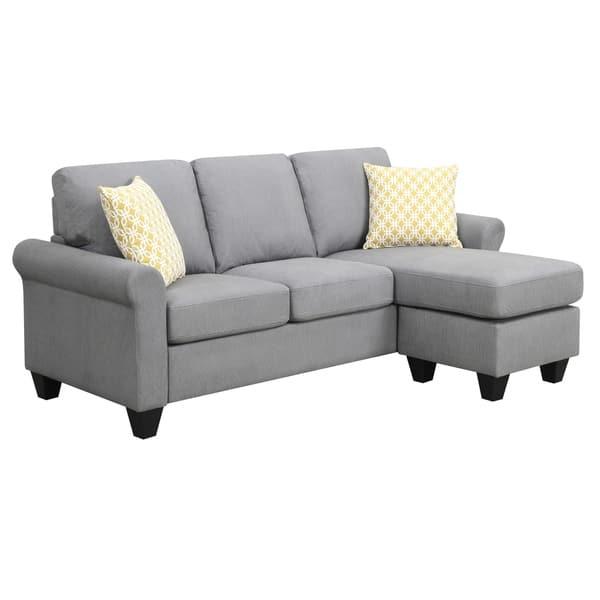 Stupendous Shop Emerald Home Claudette Soft Gray Reversible Sectional Pabps2019 Chair Design Images Pabps2019Com