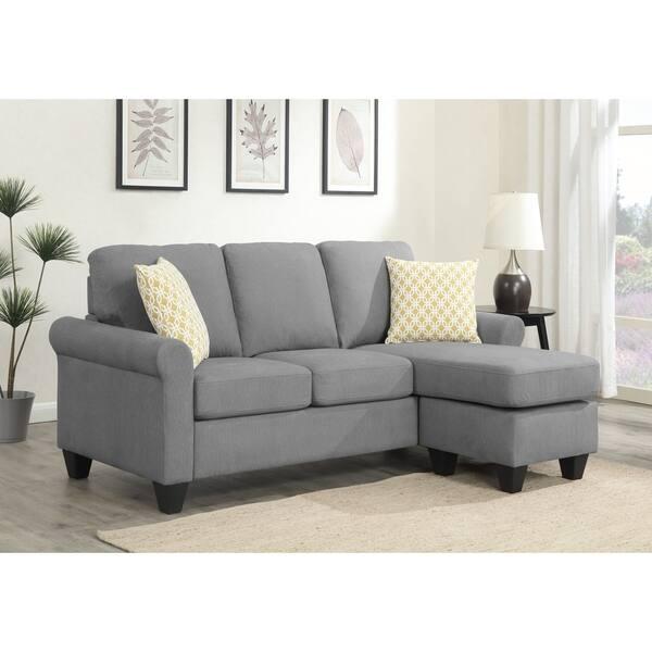Brilliant Shop Emerald Home Claudette Soft Gray Reversible Sectional Pabps2019 Chair Design Images Pabps2019Com