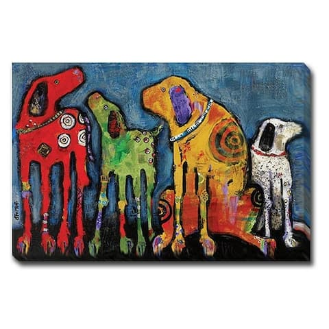 Best Friends by Jenny Foster Oversize Gallery Wrapped Canvas Giclee Art (30 in x 45 in, Ready to Hang)