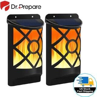 Solar Lights Waterproof Wall Lights Outdoor Sensor Auto On/Off Flickering Flames