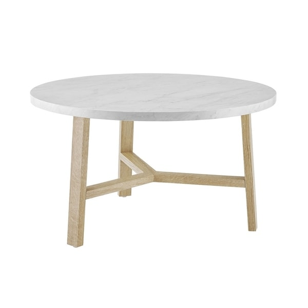 "Mid Century Two Tone Coffee Table By Weiman: Shop Offex 30"" Mid Century Round Coffee Table In 2 Tone"