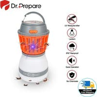 2-in-1 Bug Zapper Light IP67 Waterproof Portable UV Insect Mosquito Killer Lamp