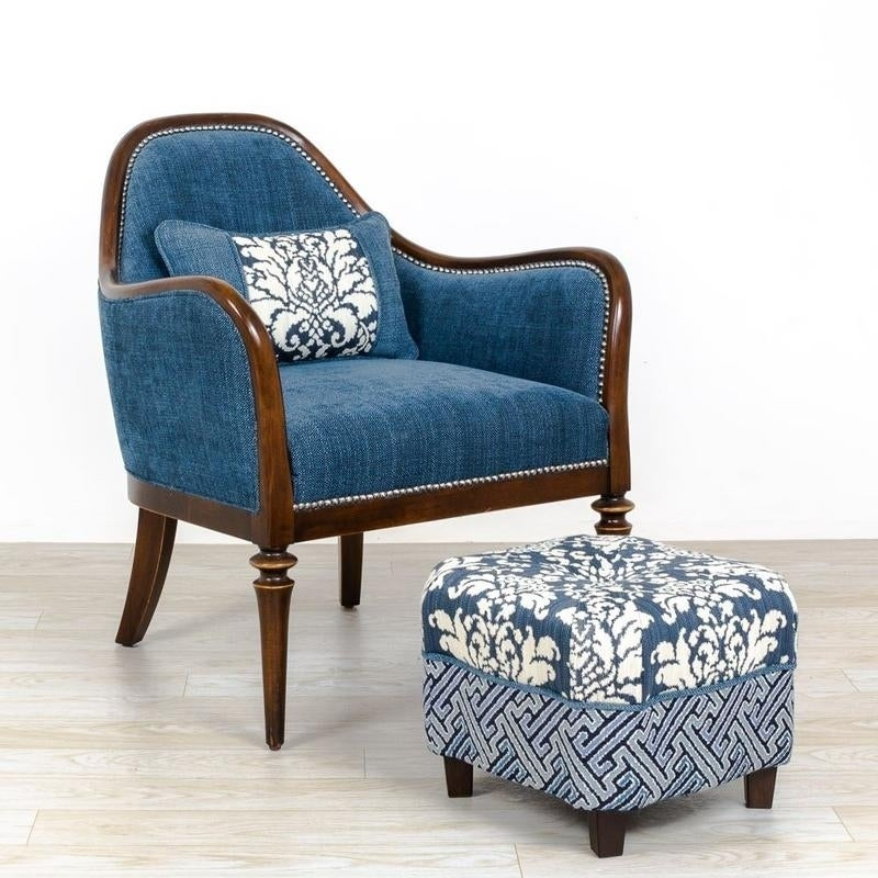 Connie Armchair Stool Set 2 Pack Vintage Blue 28 75 29 34