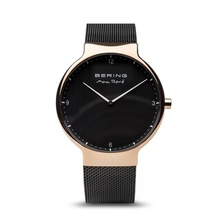BERING Max René Slim Watch With Sapphire Crystal & Black Stainless Steel Strap