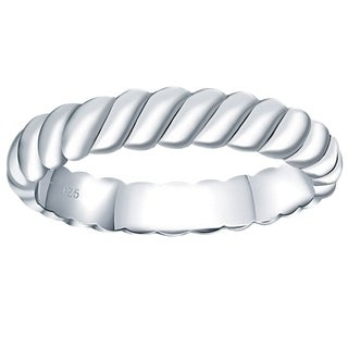 Essence Jewelry Sterling Silver Textured Band Ring for Women