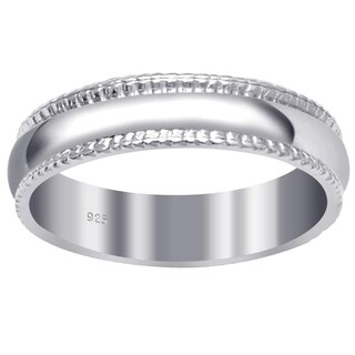 Essence Jewelry 925 Sterling Silver 4 1/2 Mm Confirm Fit High Polished Eternity Band Ring
