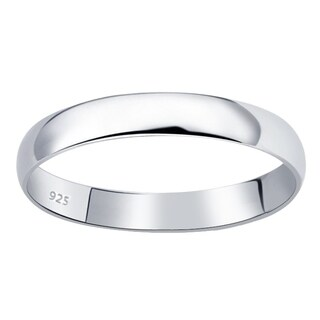 Essence Jewelry Slightly Domed Daily Wear Wedding Bands For Women - Silver