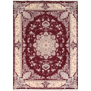 "Goemetric Soft Plush Tabriz Persian Oriental Area Rug Carpet - 13'2"" x 9'10"""
