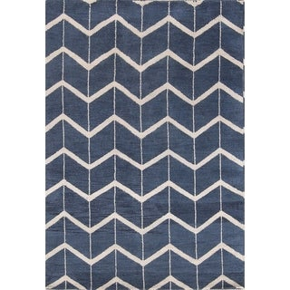 """Modern Moroccan Indian Hand Knotted Oriental Area Rug - 7'8"""" x 5'4"""""""