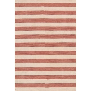 """Stripe Area Rug Indian Gabbeh Oriental Wool Hand Knotted - 8'3"""" x 5'7"""""""