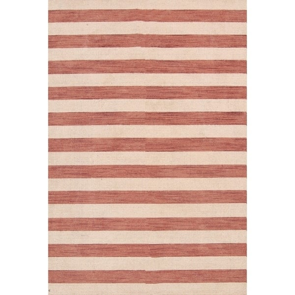 "Stripe Area Rug Indian Gabbeh Oriental Wool Hand Knotted - 8'3"" x 5'7"""