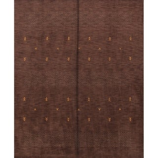 """Gabbeh Indian Hand Knotted Oriental Modern Tribal Area Rug - 10'0"""" x 8'0"""""""