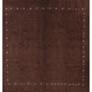 """Gabbeh Indian Hand Knotted Oriental Large Modern Area Rug - 10'0"""" square"""