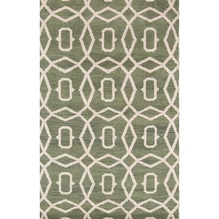 """Modern Moroccan Indian Hand Knotted Oriental Area Rug - 7'10"""" x 5'0"""""""