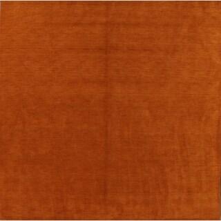 "Classical Modern Gabbeh Handmade Oriental Bedroom Area Rug - 9'10"" square"