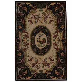 "Traditional Aubusson Hand Knotted Oriental Area Rug Beige - 12'8"" x 9'9"""