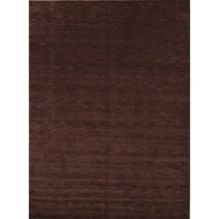 "Gabbeh Hand Knotted Wool Indian Oriental Modern Area Rug - 11'1"" x 8'3"""