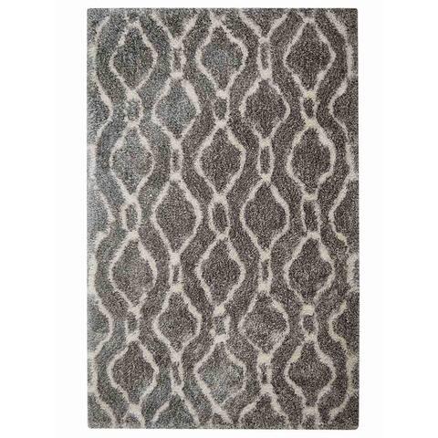 "Indian Traditional Hand Made Shagy Oriental Area Rug Grey - 5'0"" x 8'0"""