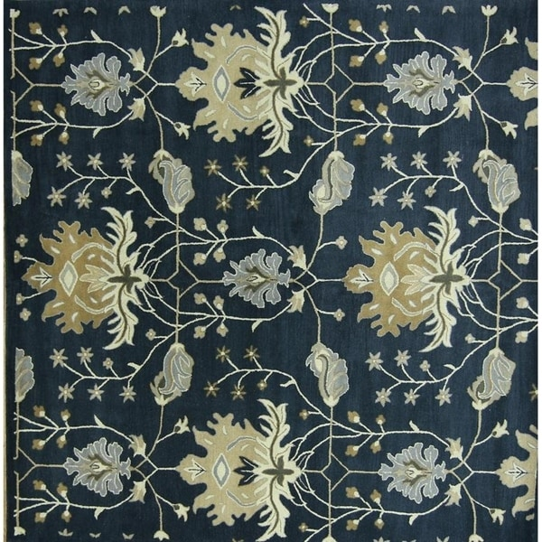 10x10 Square New Oushak Oriental Wool Area Rug: Shop Hand Tufted Woolen Oushak Indian Oriental Floral Rug