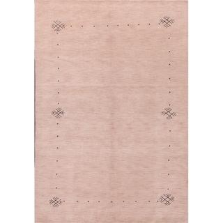 "Gabbeh Oriental Hand Knotted Woolen Area Rug Tribal Carpet - 6'3"" x 9'1"""