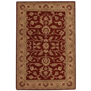 """Hand Tufted Oushak Traditional Agra Oriental Area Rug Red - 13'0"""" x 9'10"""""""