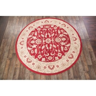 """Classic Oushak Agra Oriental Area Rug Hand Tufted Wool Floral - 5'0"""" round"""