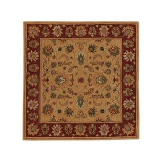 """Copper Grove Silikou Floral Square Oushak Classical Hand Tufted Indian Oriental Area Rug - 9'10"""" square"""