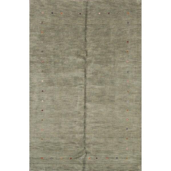 "Hand Made Gabbeh Tribal Oriental Wool Area Rug - 9'11"" x 6'5"""
