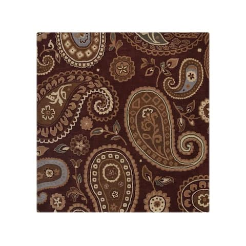 """Gracewood Hollow Matar Tufted Blend Traditional Oushak Traditional Paisley Rug - 11'8"""" x 8'3"""""""