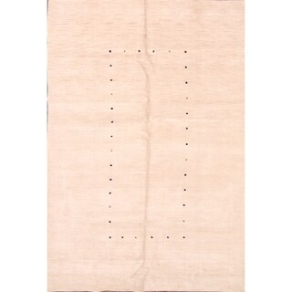 "Gabbeh Oriental Handmade Area Rug Beige Tribal Carpet - 9'9"" x 6'8"""